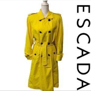 Vintage Escada yellow trench coat